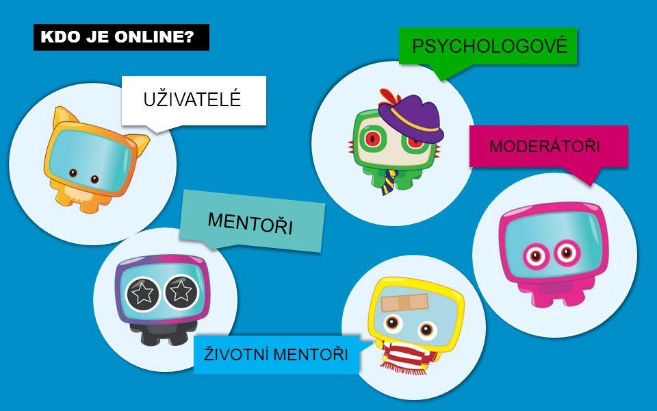 KDO JE ONLINE UŽIVATELÉ MENTOŘI PSYCHOLOGOVÉ MODERÁTOŘI ŽIVOTNÍ MENTOŘI