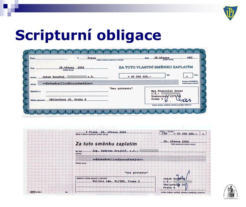 Scripturní obligace