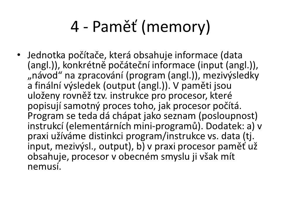 5 - Algoritmus Návod, jak vyřešit nějaký problém.Obecný případ programu (tzn.