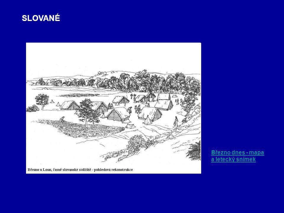 Březno dnes - mapa a letecký snímek SLOVANÉ