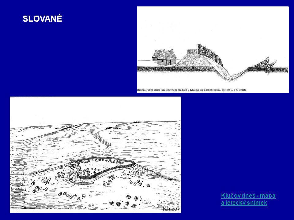 Klučov dnes - mapa a letecký snímek SLOVANÉ