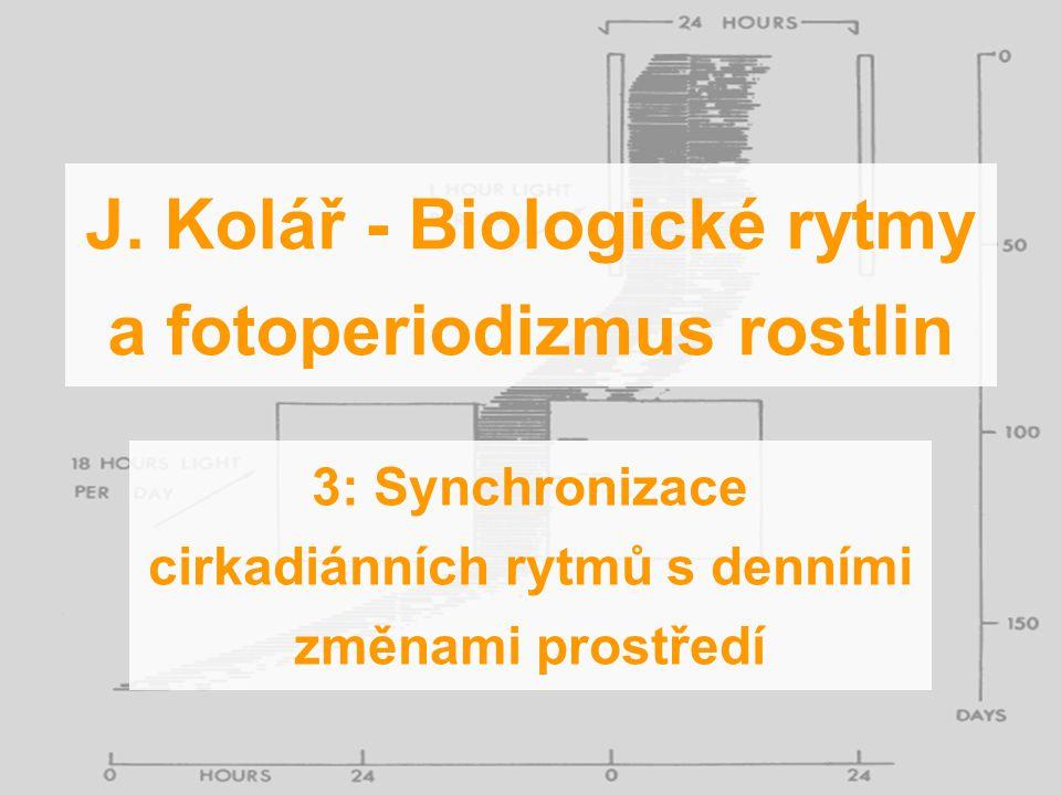 J. Kolář - Biologické rytmy a fotoperiodizmus rostlin 3: Synchronizace cirkadiánních rytmů s denními změnami prostředí