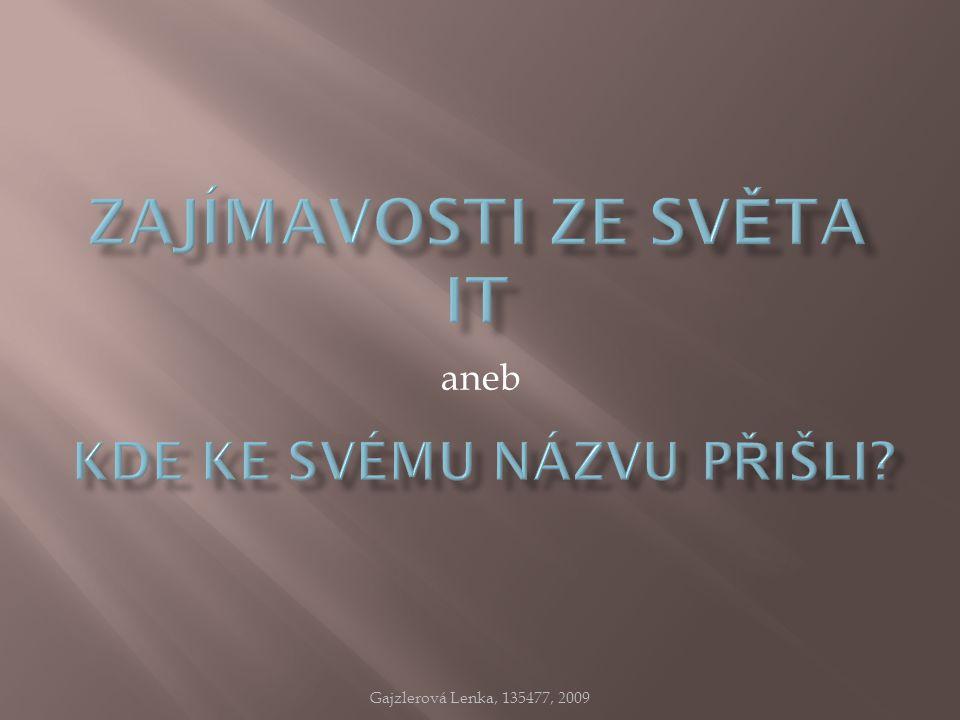 aneb Gajzlerová Lenka, 135477, 2009
