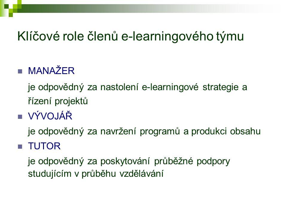 Dovednosti členů e-learningového týmu