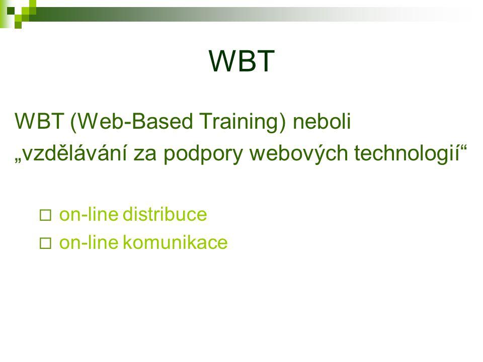"""CBT CBT (Computer-Based Training) neboli """"vzdělávání za podpory počítačů  multimedialita"""