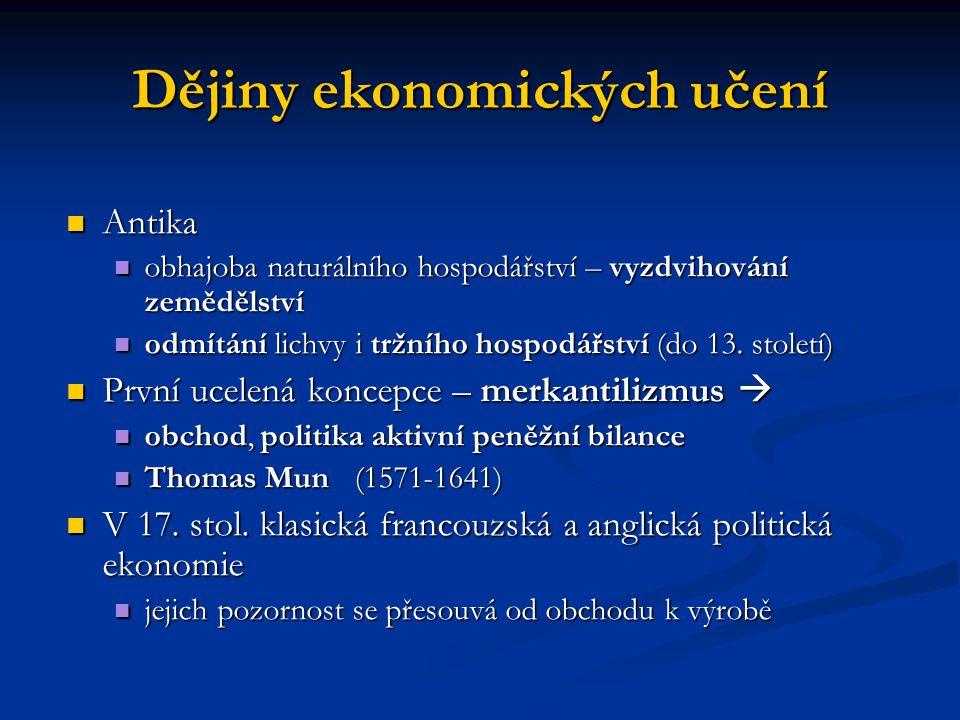 Dějiny ekonomických učení V 18.