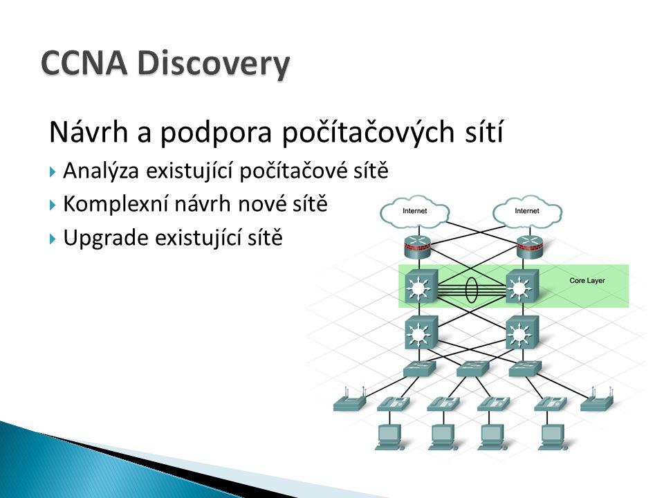  Analýza existující počítačové sítě  Komplexní návrh nové sítě  Upgrade existující sítě