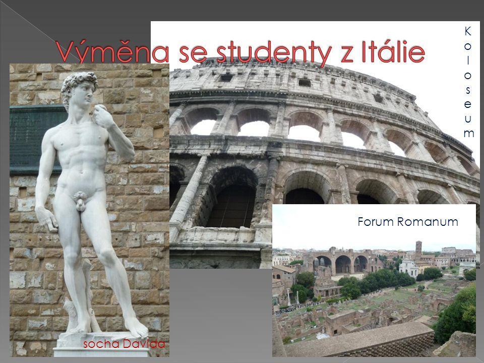 Forum Romanum socha Davida KoloseumKoloseum