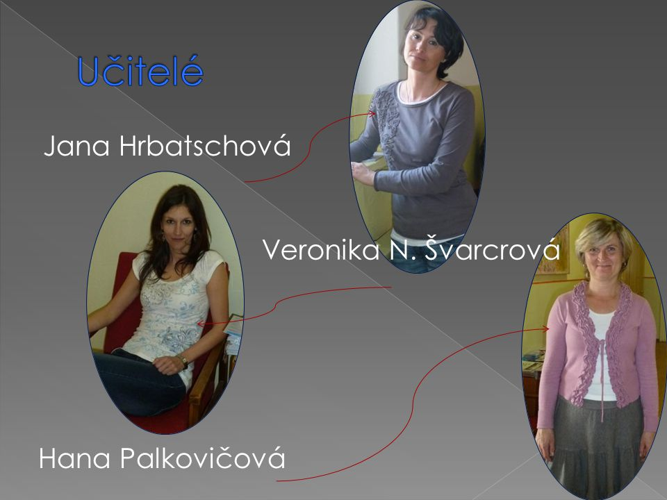 Jana Hrbatschová Veronika N. Švarcrová Hana Palkovičová