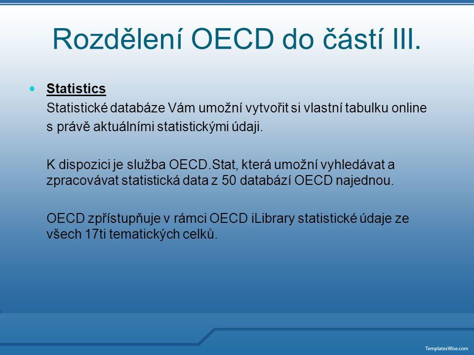 Rozdělení OECD do částí IV.