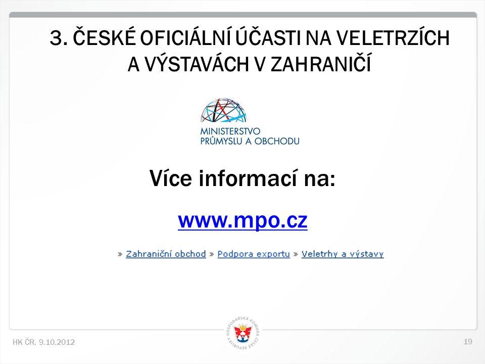 19 HK ČR, 9.10.2012 3.