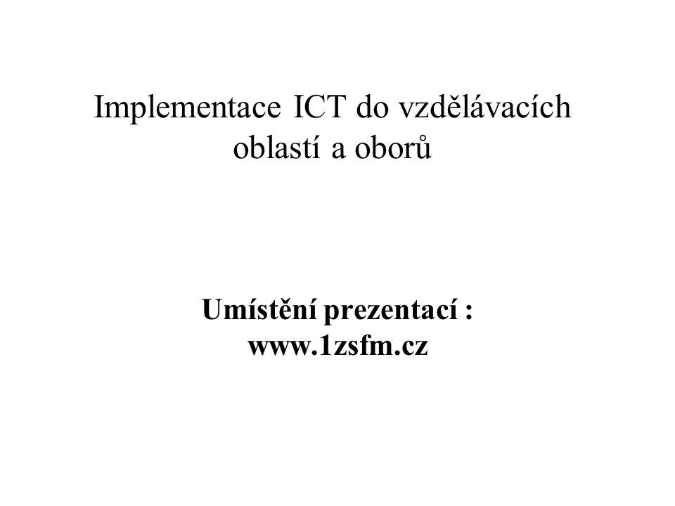 """Vzdělávací obor:Fyzika Třída:8.A Vyučující :Mohylová Iva Datum :31.10.2005 Téma vyučovací hodiny : """"Vzájemná přeměna polohové a pohybové energie tělesa Vybavení učebny : připojení na INTERNET připojení na školní síť – výukové programy PC – notebook dataprojektor"""