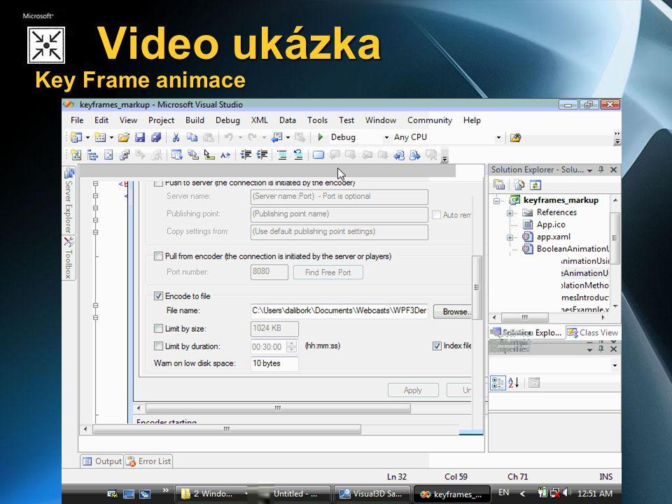Video ukázka Key Frame animace Video ukázka Key Frame animace