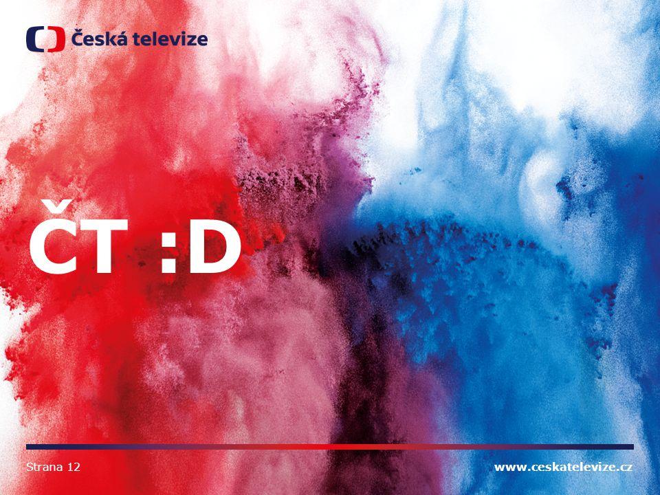 www.ceskatelevize.cz ČT :D Strana 12