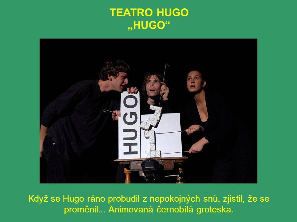 """TEATRO HUGO """"HUGO Když se Hugo ráno probudil z nepokojných snů, zjistil, že se proměnil..."""