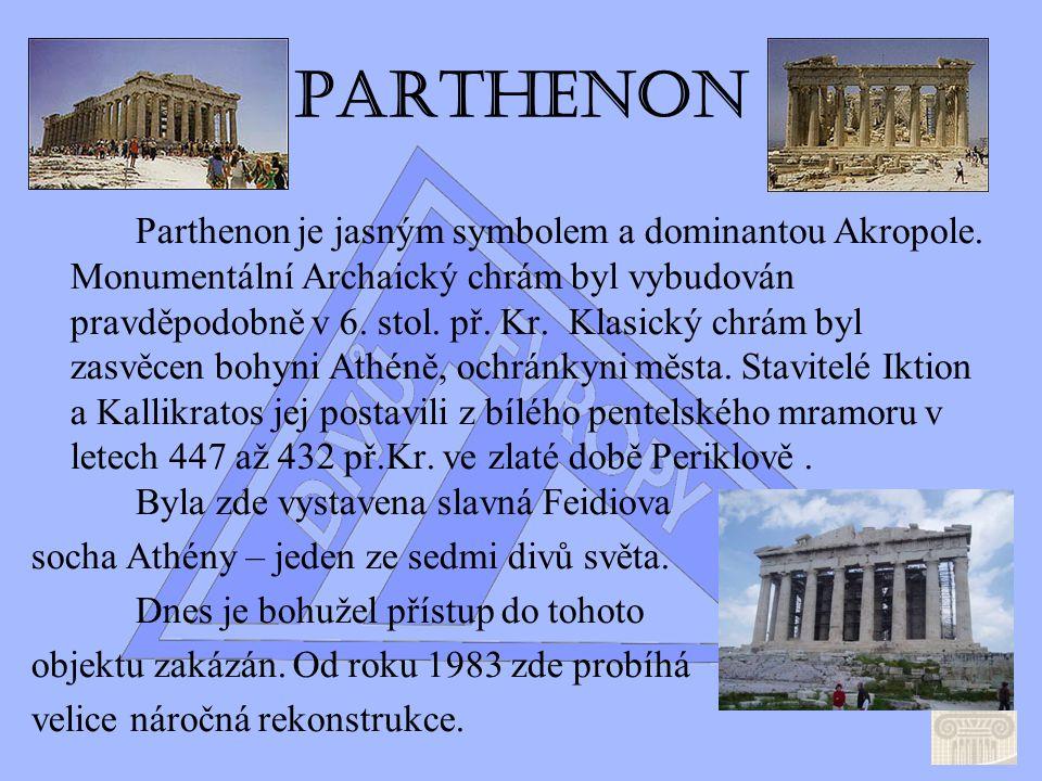 Parthenon Erechtheion Mapa Akropole by Adam Kalina http://www.culture.gr/2/21/211/21101a/e211aa01.html