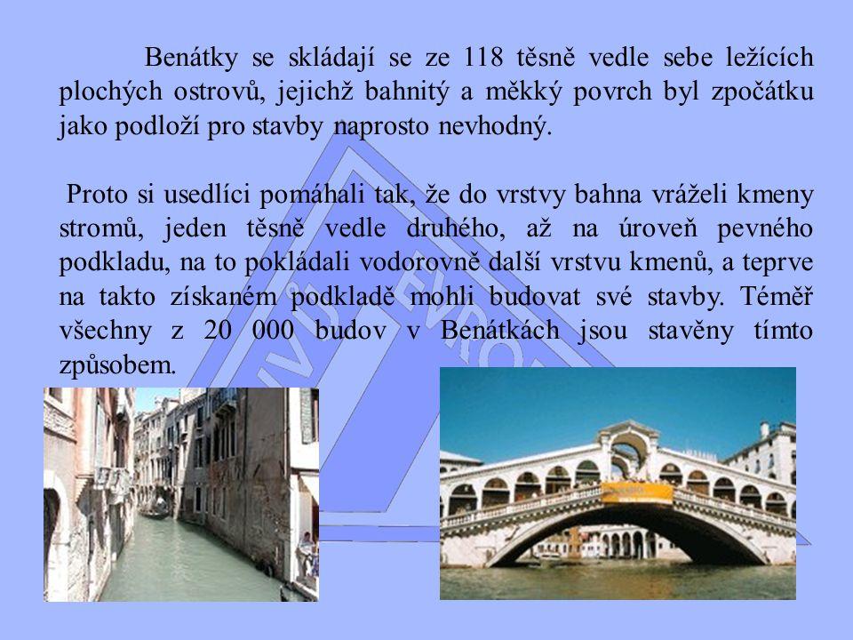 VII.Div Evropy Benátky Benátky leží uprostřed mělkého vnitřního moře o délce zhruba 40 km a max.