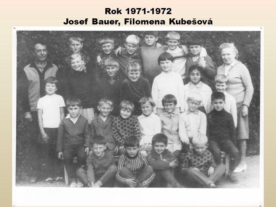 Rok 1971-1972 Josef Bauer, Filomena Kubešová