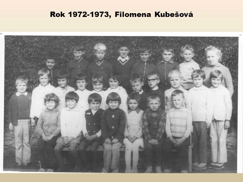 Rok 1972-1973, Filomena Kubešová