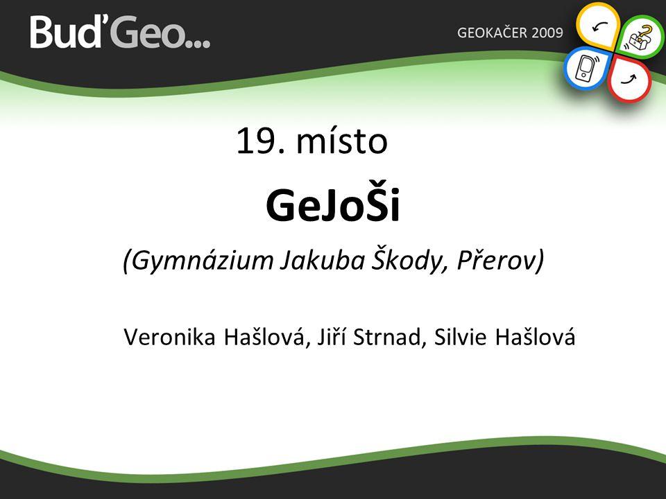 18. místo EXPERTI (Gymnázium Uničov) Barbora Vlková, Sylva Dřímalková