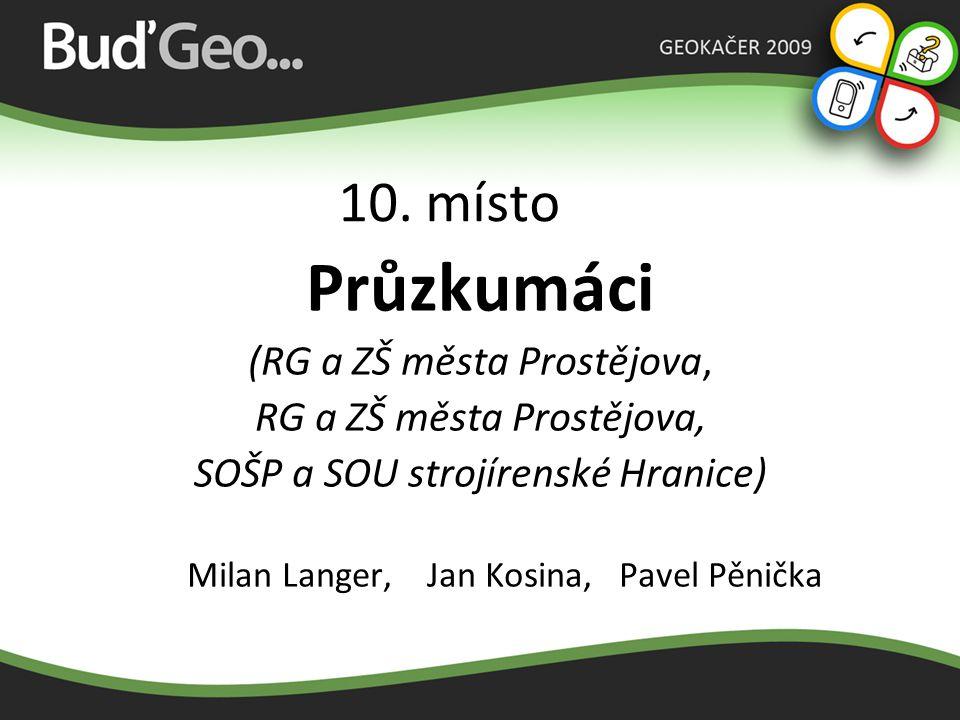 9. místo Donald Team (Gymnázium Uničov) Monika Jarmarová, Veronika Schönová, Veronika Pavelková