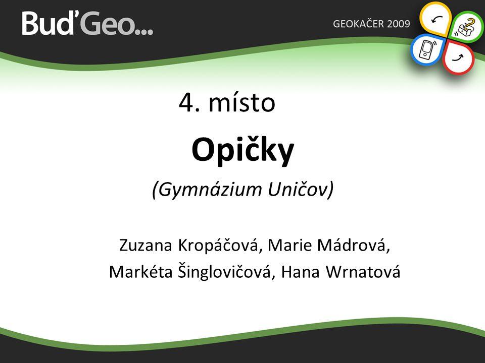 3.místo Sakypaky (Slovanské gymnázium Olomouc) Lukáš Koutný, Jan Novák 1.