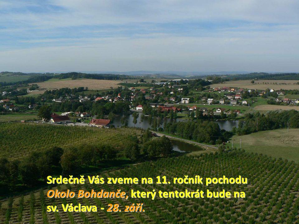 Srdečně Vás zveme na 11. ročník pochodu Okolo Bohdanče, který tentokrát bude na sv.