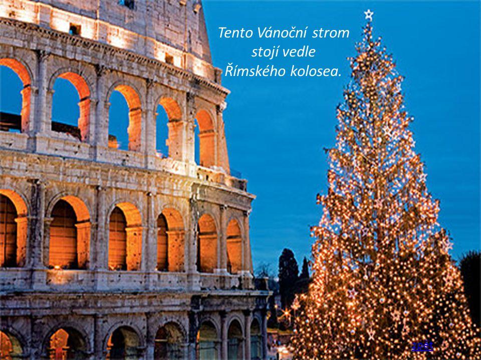 Tento Vánoční strom stojí vedle Římského kolosea. zpět