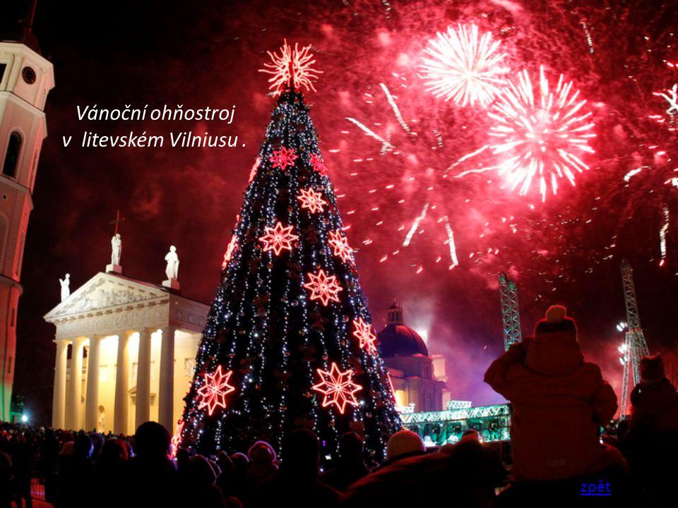 Vánoční ohňostroj v litevském Vilniusu. zpět