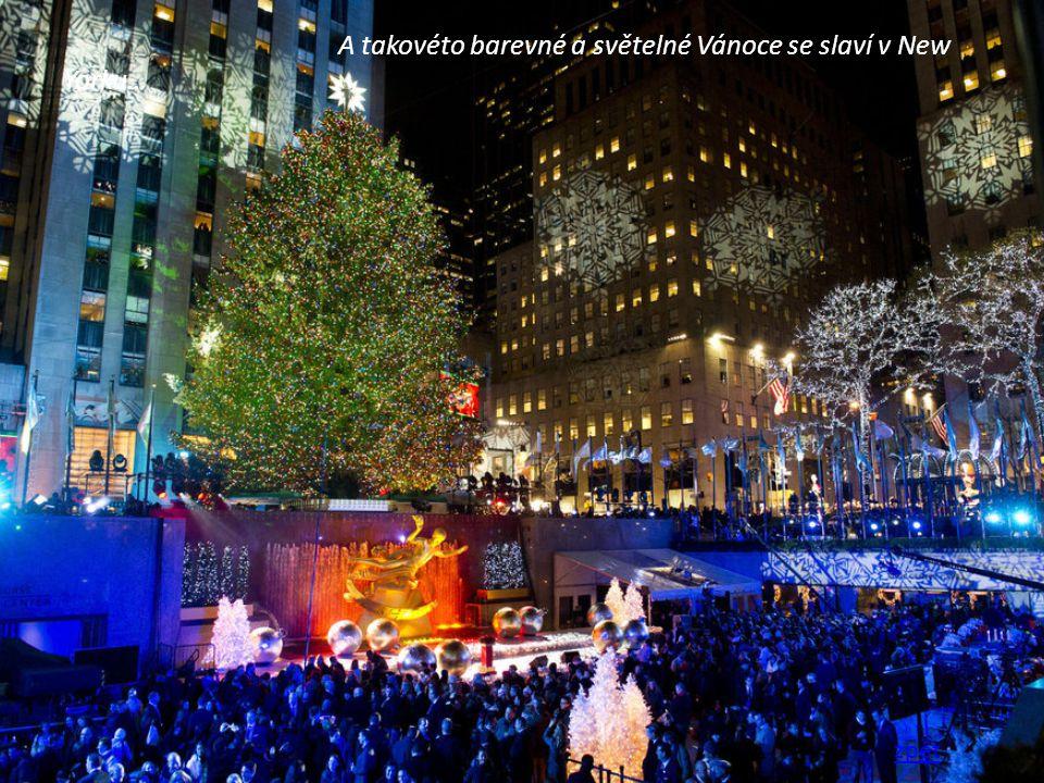 A takovéto barevné a světelné Vánoce se slaví v New Yorku… zpět