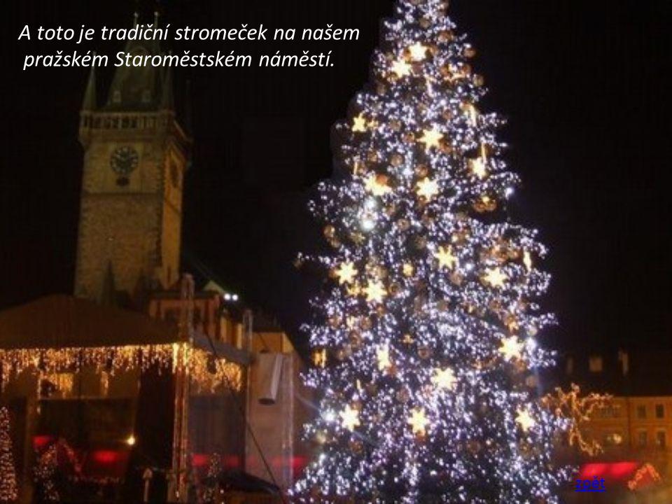 A toto je tradiční stromeček na našem pražském Staroměstském náměstí. zpět