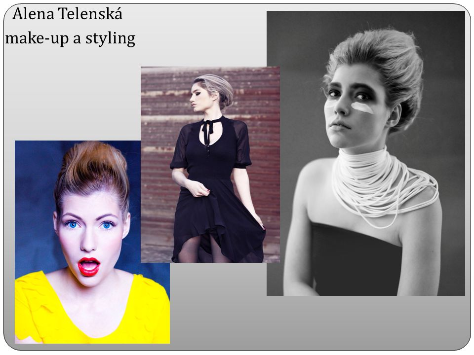Alena Telenská make-up a styling