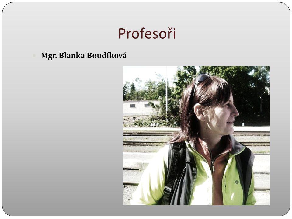 Profesoři Mgr. Blanka Boudíková