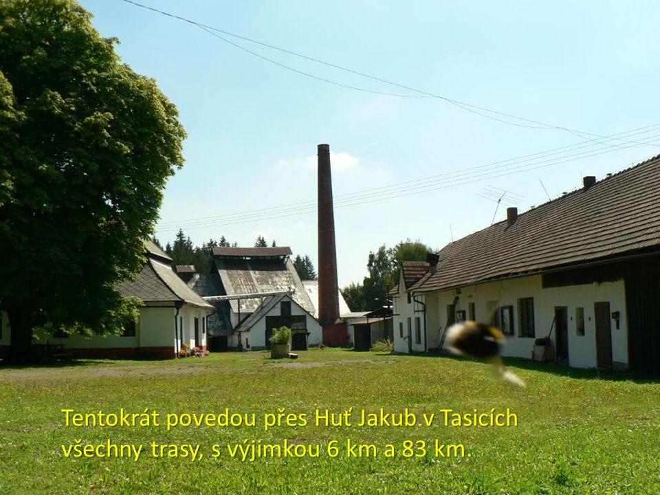 Tentokrát povedou přes Huť Jakub v Tasicích všechny trasy, s výjimkou 6 km a 83 km.