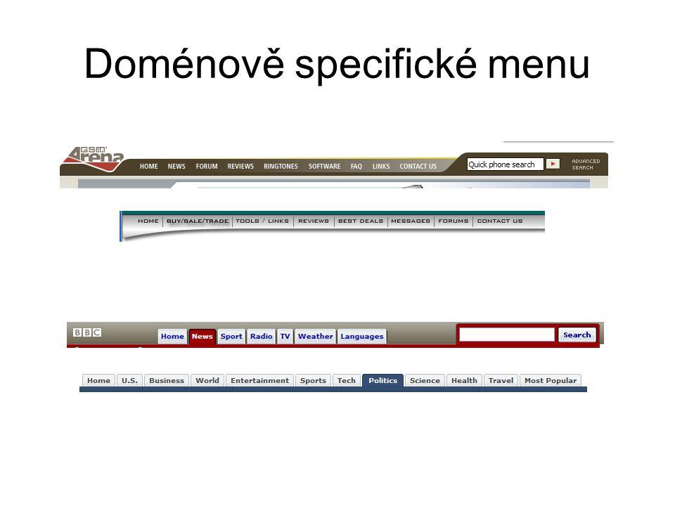 Doménově specifické menu
