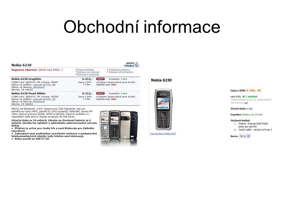 Obchodní informace