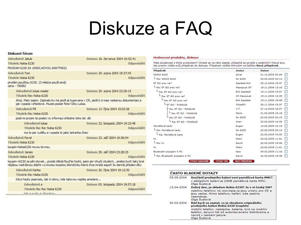 Diskuze a FAQ