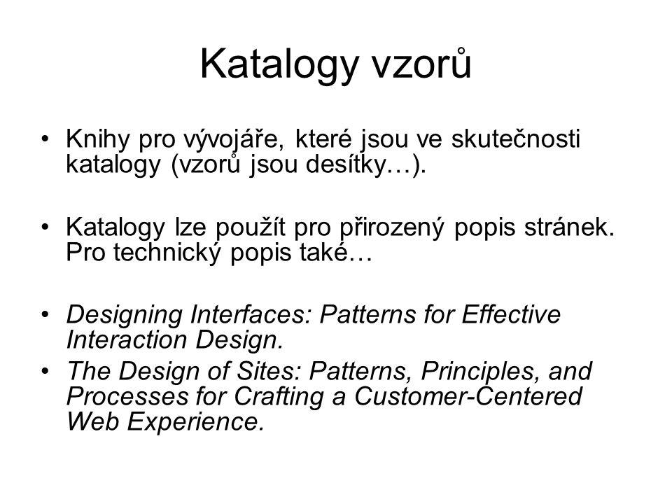 Katalogy vzorů Knihy pro vývojáře, které jsou ve skutečnosti katalogy (vzorů jsou desítky…).