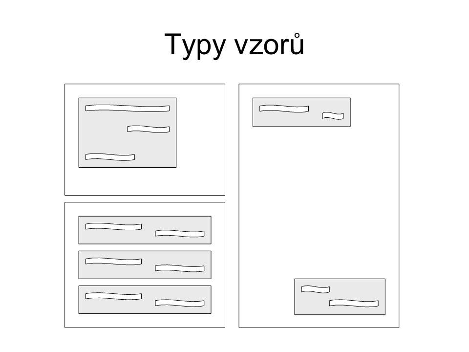 Typy vzorů