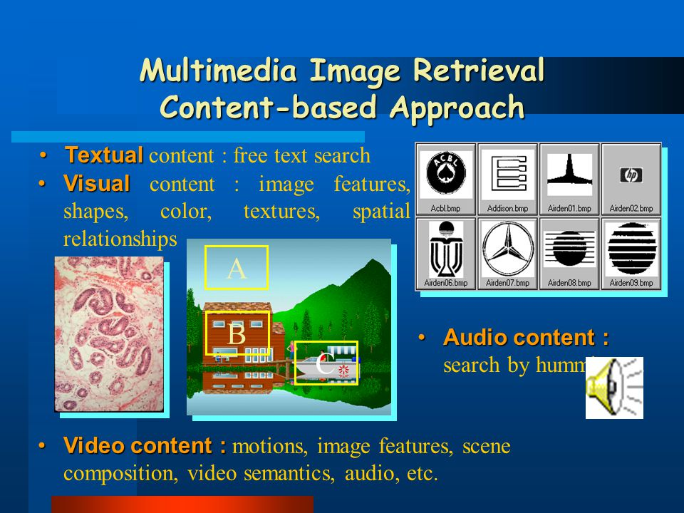 Najít podobné snímky podle příkladu (visuální similarita); Najít podobné snímky podle příkladu (visuální similarita); Najít podobné snímky podle histologických příznaků (semantická similarita); Najít podobné snímky podle histologických příznaků (semantická similarita); Najít snímky podle textového popisu; Najít snímky podle textového popisu; automatická anotace neznámých snímků automatická anotace neznámých snímků Cíle I-Browse