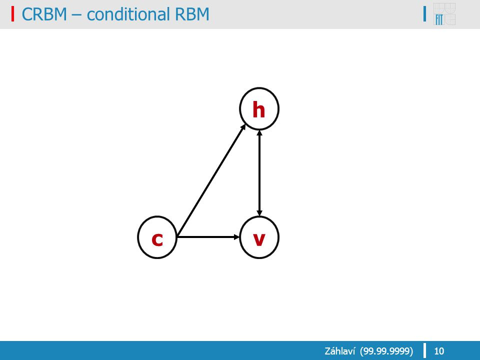 CRBM – conditional RBM Záhlaví (99.99.9999)10 h vc