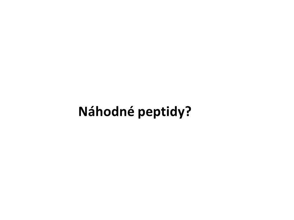 Náhodné peptidy?