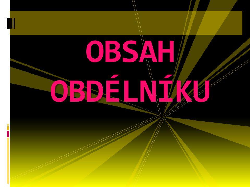 OBSAH OBDÉLNÍKU