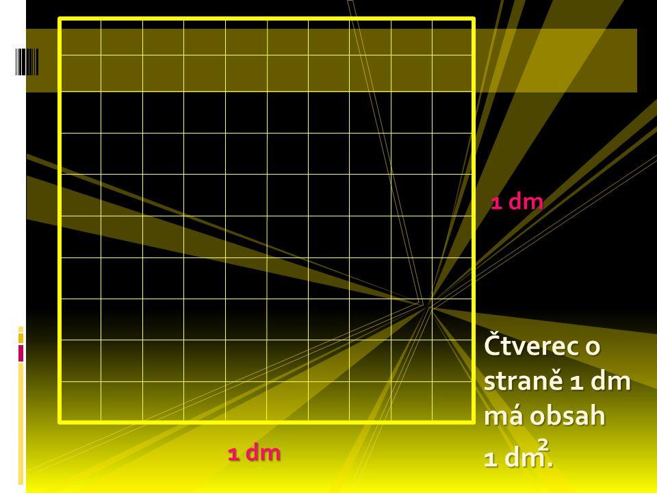  Tento čtverec má obsah 1cm.  Jaký bude mít obsah obdélník vpravo. 2
