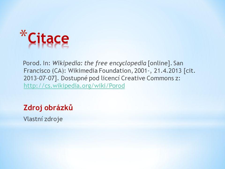 Porod.In: Wikipedia: the free encyclopedia [online].