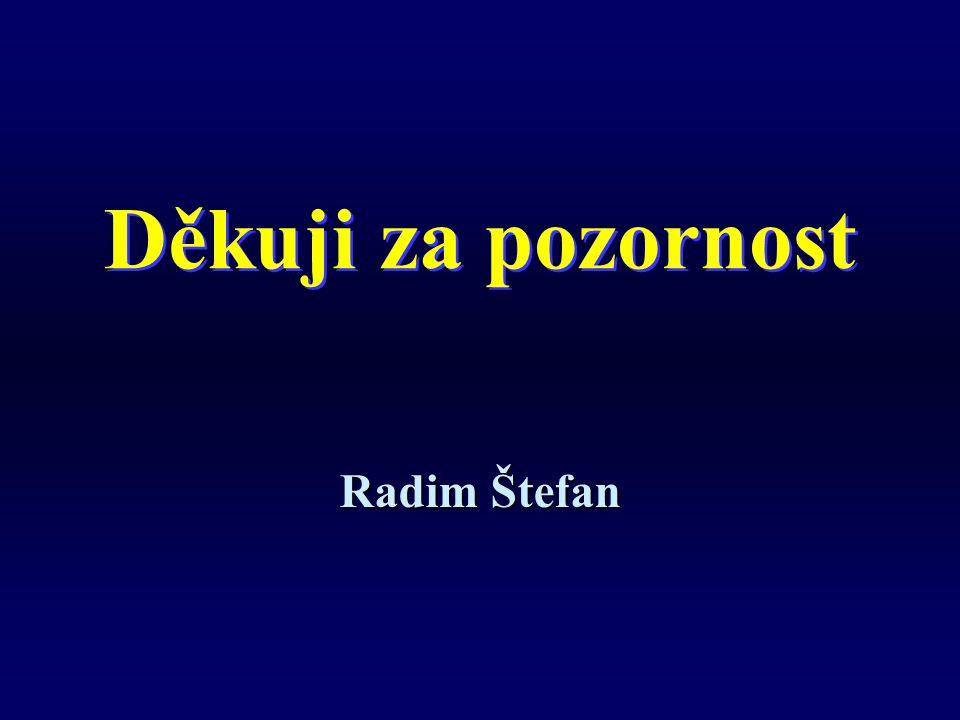 Děkuji za pozornost Radim Štefan