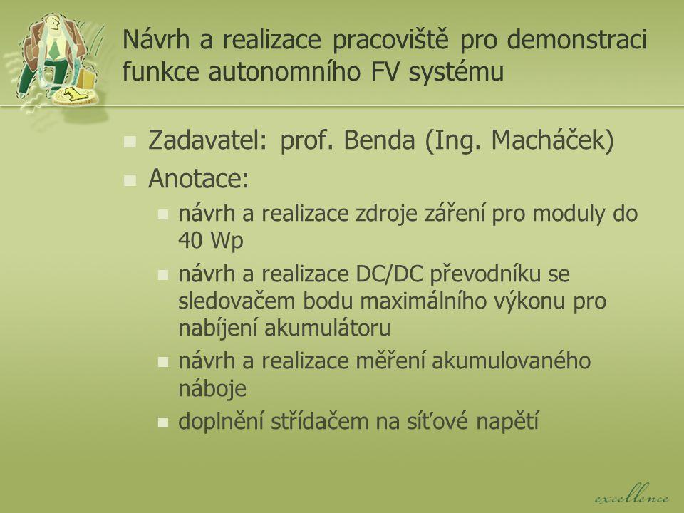 Návrh pracoviště pro přímé elektroodporové sušení keramických polotovarů Zadavatel: doc.