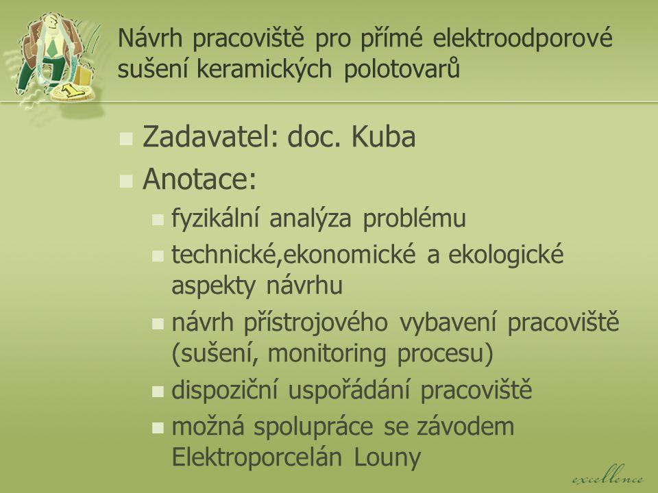 Návrh dílny pro likvidaci OEEZ Zadavatel: doc.