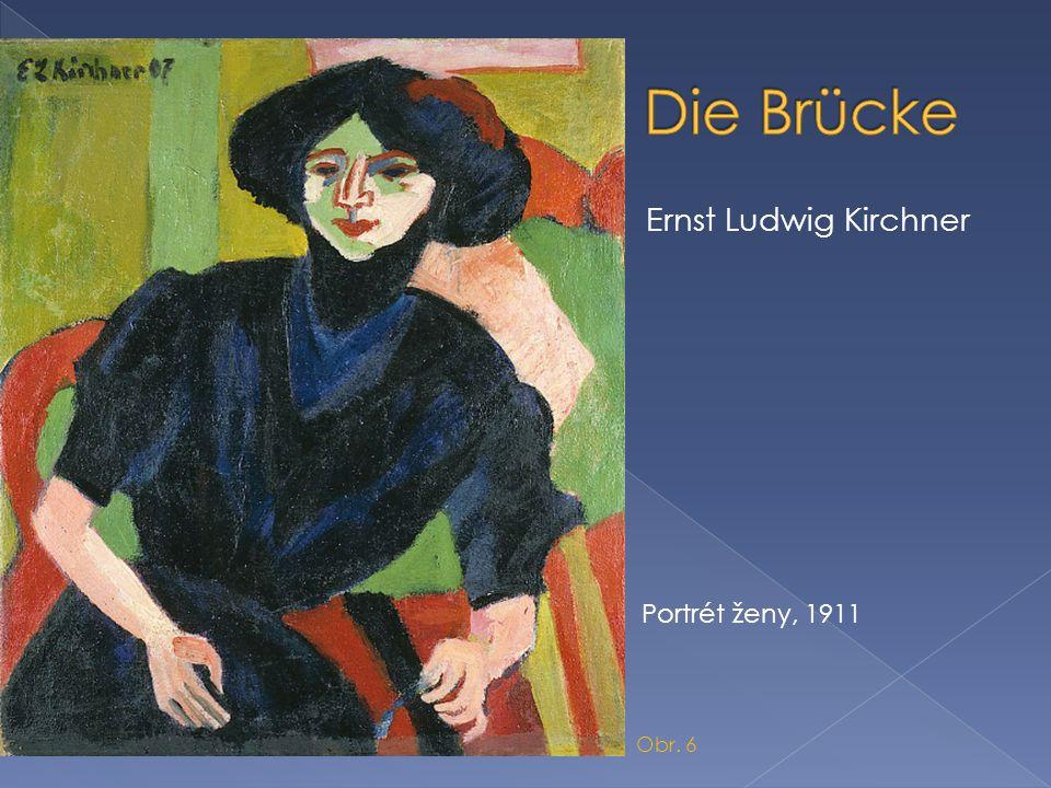  Ernst Ludwig Kirchner Portrét ženy, 1911 Obr. 6