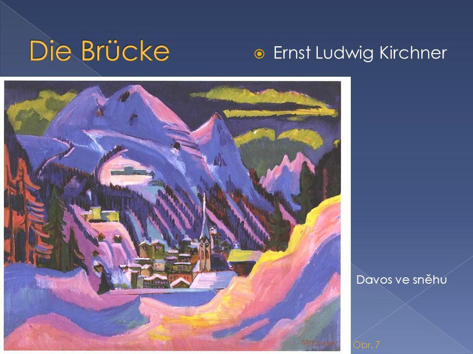  Ernst Ludwig Kirchner Davos ve sněhu Obr. 7